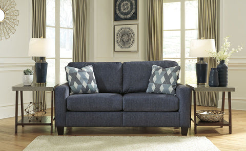 Shop Ashley Furniture Burgos Navy Sofa at Mealey's Furniture