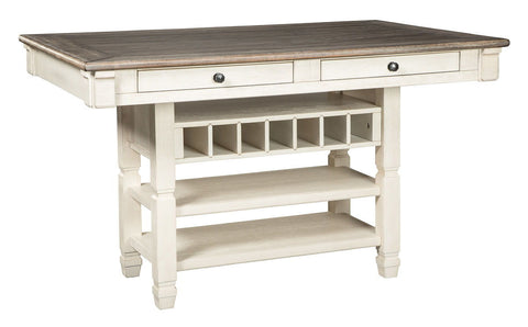 Shop Ashley Furniture Bolanburg Rectangle Dining Room Counter Table at Mealey's Furniture