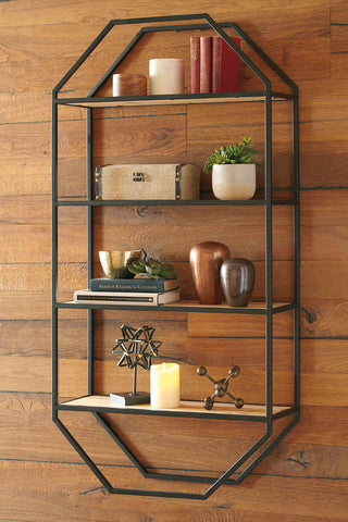 Shop Ashley Furniture Elea- Black/Natural Wall Shelf at Mealey's Furniture
