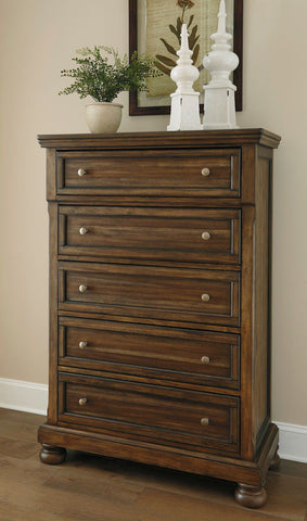 Shop Ashley Furniture Flynnter Five Drawer Chest at Mealey's Furniture
