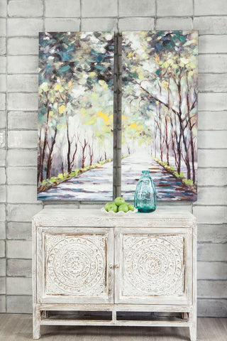 Shop Ashley Furniture Donagh Green Wall Art Set (2/CN) at Mealey's Furniture