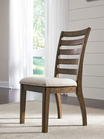 Shop Ashley Furniture Flynnter Medium Brown Dining Uph Side Chair at Mealey's Furniture