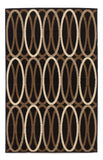 Shop Ashley Furniture Kyle Black/Brown Medium Rug at Mealey's Furniture