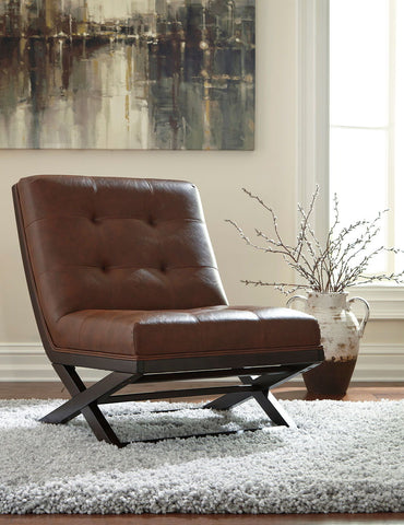 Shop Ashley Furniture Sidewinder Brown Accent Chair at Mealey's Furniture