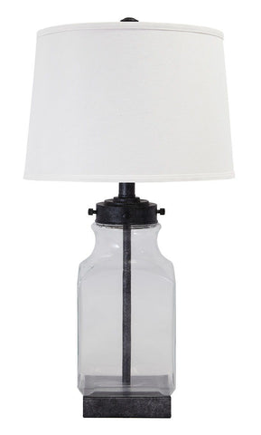 Shop Ashley Sharolyn Transparent/Silver Finish Glass Table Lamp (1/CN) at Mealey's Furniture