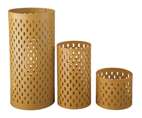 Shop Ashley Furniture Caelan Yellow Candle Holder (Set of 3) at Mealey's Furniture