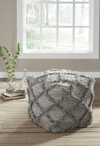 Shop Ashley Furniture Adelphie Natural/Gray Pouf at Mealey's Furniture