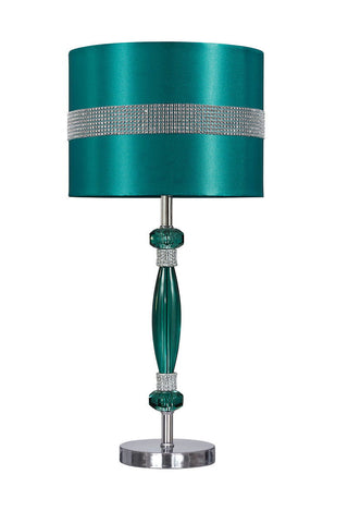 Nyssa Teal/Silver Finish Acrylic Table Lamp (1/CN)