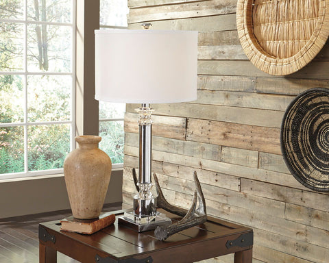 Shop Ashley Furniture Marlon Clear/Silver Finish Metal Table Lamp (1/CN) at Mealey's Furniture