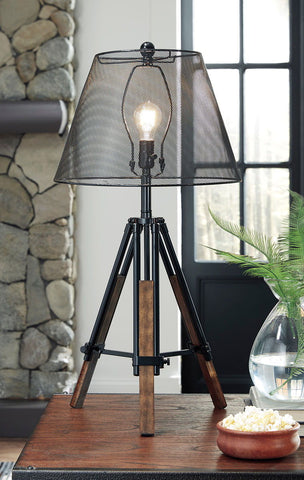Shop Ashley Furniture Leolyn Black/Brown Metal Table Lamp (1/CN) at Mealey's Furniture