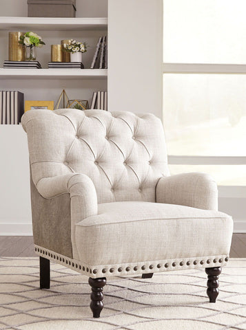 Shop Ashley Furniture Tartonelle- Ivory/Taupe Accent Chair at Mealey's Furniture