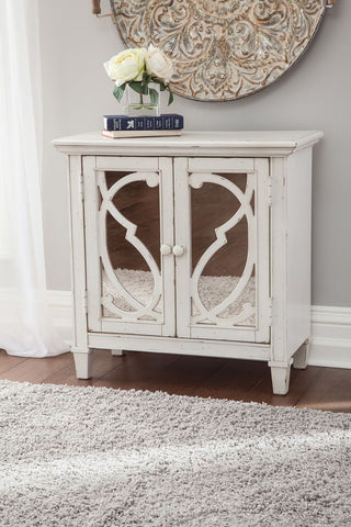 Shop Ashley Furniture Mirimyn White Accent Cabinet at Mealey's Furniture