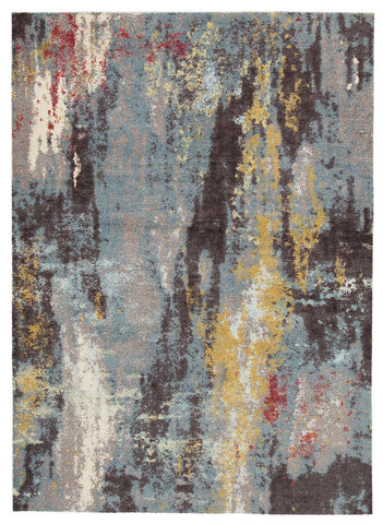 Shop Ashley Furniture Quent Blue/Gray/Yellow Medium Rug at Mealey's Furniture