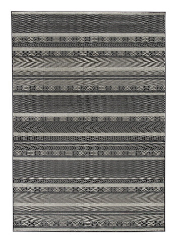 Shop Ashley Furniture Jeven Black/Cream Medium Rug at Mealey's Furniture