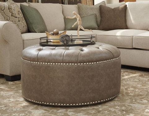 Shop Ashley Furniture Wilcot Gray Oversized Accent Ottoman at Mealey's Furniture