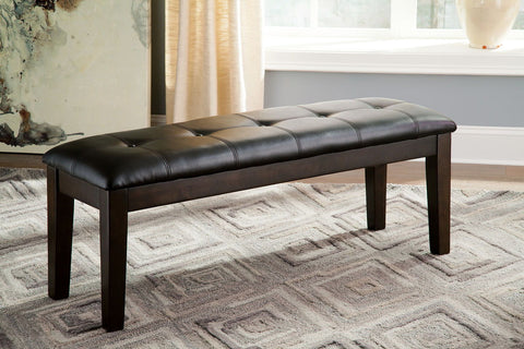Shop Ashley Furniture Haddigan Dark Brown Large Uph Dining Room Bench at Mealey's Furniture