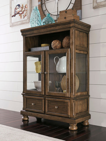 Shop Ashley Furniture Flynnter Medium Brown Curio at Mealey's Furniture