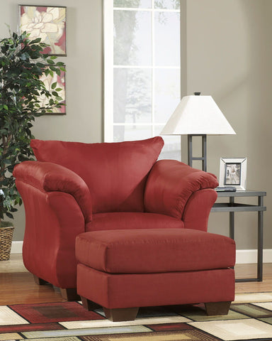 Shop Ashley Furniture Darcy Salsa Ottoman at Mealey's Furniture