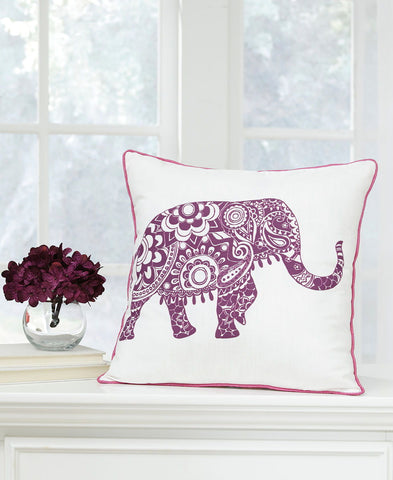Shop Ashley Furniture Medan White/Purple Pillow at Mealey's Furniture