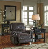 Shop Ashley Furniture Breville Charcoal Rocker Recliner at Mealey's Furniture