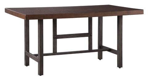 Shop Ashley Furniture Kavara Medium Brown Rectangular Dining Room Table at Mealey's Furniture