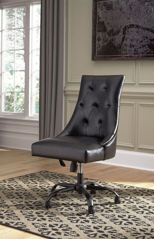 Shop Ashley Furniture Office Chair Program Linen Home Office Swivel Desk Chair at Mealey's Furniture