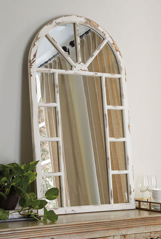 Shop Ashley Furniture Divakar Antique White Accent Mirror at Mealey's Furniture