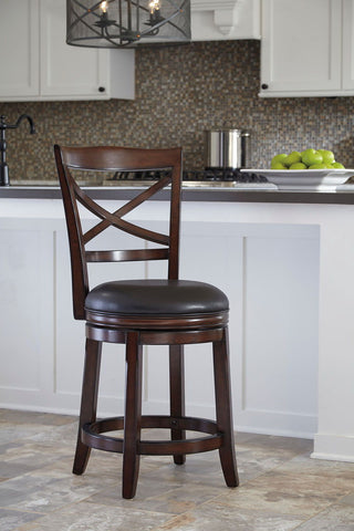 Shop Ashley Furniture Porter Uph Swivel Barstool at Mealey's Furniture