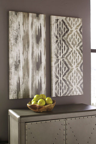 Shop Ashley Furniture Draper Brown/Black Wall Art Set (2/CN) at Mealey's Furniture
