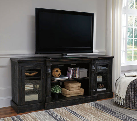 Shop Ashley Furniture Mallacar Black Xl Tv Stand at Mealey's Furniture