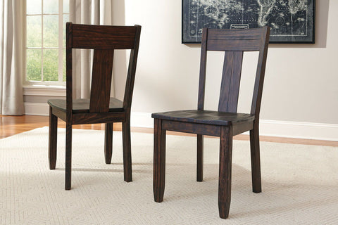 Shop Ashley Furniture Trudell Dark Brown Dining Room Side Chair at Mealey's Furniture