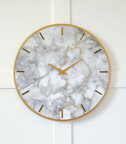 Shop Ashley Furniture Jazmin Gray/Gold Finish Wall Clock at Mealey's Furniture