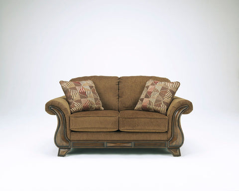 Shop Ashley Furniture Montgomery Mocha Loveseat at Mealey's Furniture