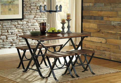 Shop Ashley Furniture Freimore Medium Brown Table With 4 Side Chairs at Mealey's Furniture