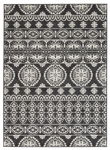 Shop Ashley Furniture Jicarilla Black/White Large Rug at Mealey's Furniture