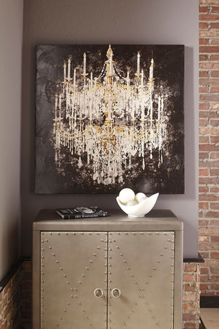 Shop Ashley Furniture Donda Black/White/Gold Finish Wall Art at Mealey's Furniture
