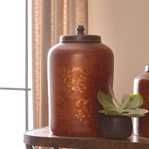 Shop Ashley Furniture Odalis Orange/Tan Jar at Mealey's Furniture