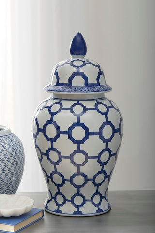 Shop Ashley Furniture Dionyhsius  Blue/White Jar at Mealey's Furniture