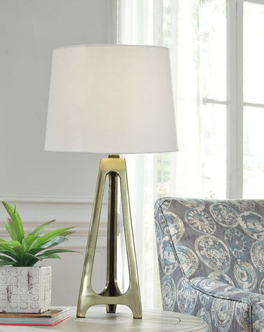 Shop Ashley Furniture Howard- Gold Finish Metal Table Lamp (2/CN) at Mealey's Furniture