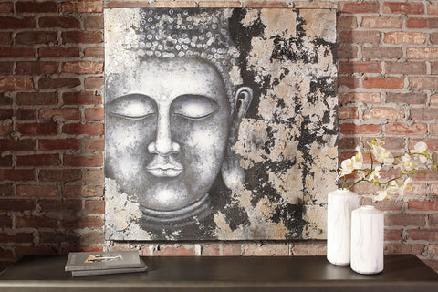 Shop Ashley Furniture Donar Black/Silver Finish Wall Art at Mealey's Furniture