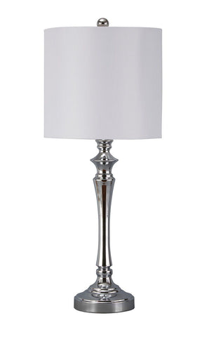 Shop Ashley Furniture Taji Chrome Finish Metal Table Lamp (2/CN) at Mealey's Furniture
