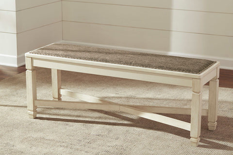 Shop Ashley Furniture Bolanburg Large Uph Dining Room Bench at Mealey's Furniture