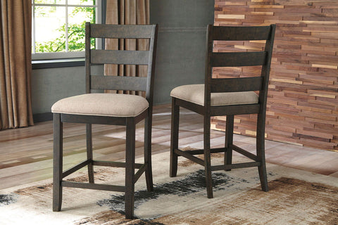 Shop Ashley Furniture Rokane Brown Upholstered Barstool at Mealey's Furniture