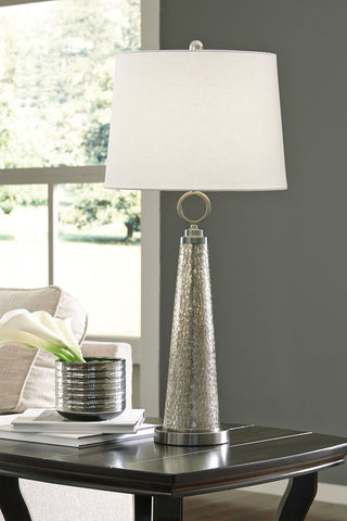 Shop Ashley Furniture Arama Mercury Glass Glass Table Lamp (1/CN) at Mealey's Furniture