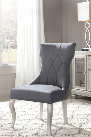 Shop Ashley Furniture Coralayne Dining Uph Side Chair Dark Gray at Mealey's Furniture