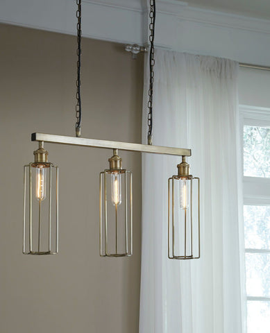 Shop Ashley Furniture Hilary Brass Finish Metal Pendant Light (1/CN) at Mealey's Furniture