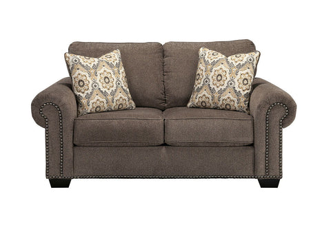 Shop Ashley Furniture Emelen Alloy Loveseat at Mealey's Furniture