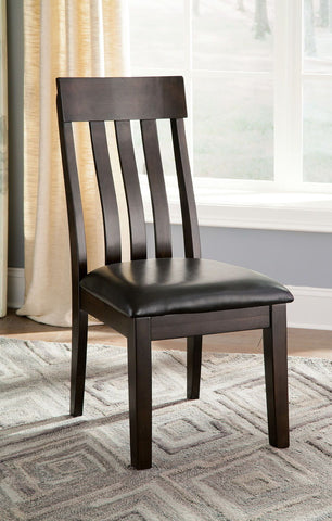 Shop Ashley Furniture Haddigan Dark Brown Dining Uph Side Chair at Mealey's Furniture