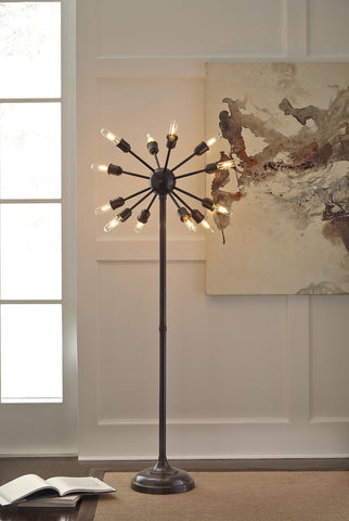 Shop Ashley Furniture Amnon Metal Floor Lamp (1/CN) at Mealey's Furniture