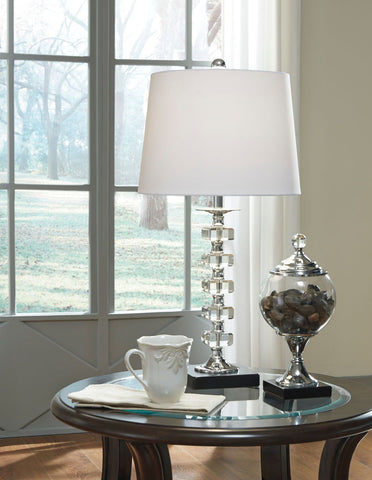 Shop Ashley Furniture Leesa Clear Crystal Table Lamp (2/CN) at Mealey's Furniture
